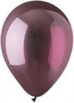 CRYSTAL BURGUNDY LATEX BALLOON